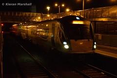 22034 at Kildare, 22/10/16 (hurricanemk1c) Tags: railways railway train trains irish rail irishrail iarnrd ireann iarnrdireann kildare 2016 22000 rotem icr rok 5pce premierclass 22034 1835heustonwaterford