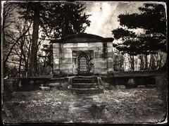 Dead and Gone (drei88) Tags: baptistcemetery garrettsville ohio mausoleum vault cemetery dunn grim bleak stone crypt dead burialground anecestoral d7000 d7k stark grave brooding lonely