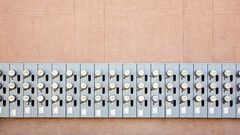 Powerful (Chris Huddleston) Tags: abstract texture repeating building apartment wall powermeter