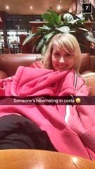 Cozy in costa (Elysia in Wonderland) Tags: elysia costa coffee snuggly cozy cute snapchat red hoodie blanket coat