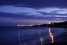 Heure bleue sur le Cap d'Agde, Hérault, France