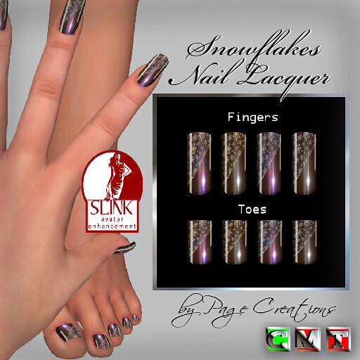 ღ ♡ Nail Lacquers For Slink ♡ ღ Snowflakes Chocolate by Page Creations™