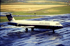 BA BAC 1-11-500 G-AVMU at NCL (gordon.bevan@xtra.co.nz) Tags: bac111500 britishairways landorcolours gavmu newcastleairport ba111gavmu