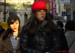 `1284 (roll the dice) Tags: uk girls portrait england people urban sun cold colour sexy london art classic weather fashion shopping happy funny pretty sad traffic natural candid flag strangers hats streetphotography knightsbridge unknown mad unaware brompton sw1 londonist kensingtonchelsea sw7