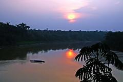 Sunset over Tambopata River, Madre de Dios, Peru (Inti Runa) Tags: sunset peru amazon ngc jungle amazonas pérou amazonie tambopata madrededios canoneos30d canonefs1785mm