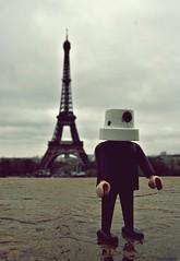 Eiffel Tower ('TIGER') Tags: paris tower french la frankreich tour fair eiffel worlds eiffelturm playmobil kopf spraydosen