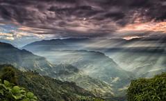 First Glimpse (craigkass) Tags: travel nepal mountains sunrise asia himalaya crepuscular kanchenjunga