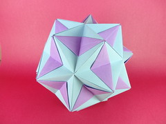 Rhombic Patches, 30-Unit Structure (Tomoko Fuse) (OrigamiSunshine) Tags: paper origami modular fold patches paperfolding kusudama tomokofuse rhombic origamisunshine