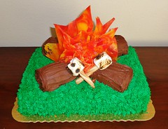 Campfire Cake (daniyellee) Tags: birthday wood cake candy hard logs campfire marshmallows