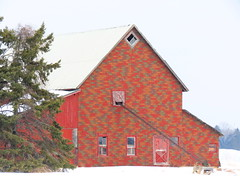 IMG_2504BrSaCn Stonington Barn (jgagnon63@yahoo.com) Tags: winter michigan farm farmland upperpeninsula winterland uppermichigan stoningtonpeninsula deltacountymi canonsx40 countyroad513