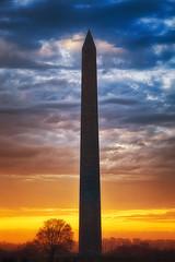 Sunset, Washington Monument ([ raymond ]) Tags: sunset vertical washingtondc obelisk washingtonmonument hdr img0324