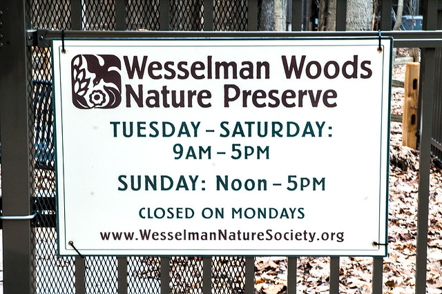 Wesselman Woods Nature Preserve - January 5, 2015