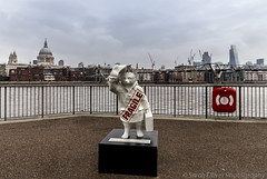 Fragile designed by Ryan McElhinney (SarahO44) Tags: bear uk london peru hat st statue modern canon movie riverside cathedral tate ryan walk coat united kingdom pauls trail paddington paws 36 fragile briefcase marmalade 6d toggle cheesegrater duffle nspcc mcelhinney paddingtontrail