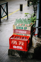 Old soda bottles (jkpark78) Tags: street old travel school red color rain bottle nikon nostalgia carton soda macau 2012 d90