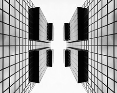 Cubism London or London Tetris (New 2015 Version) - City Office Life (Simon & His Camera) Tags: city light urban bw white abstract black reflection building london tower glass lines vertical skyline architecture composition contrast skyscraper office vertigo lookingup cube iconic tetris rubiks simonandhiscamera
