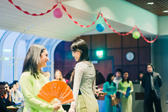 Tet Festival. (Explore 2.23.15) (klweng) Tags: new festival lens happy girlfriend vietnamese dress minolta sony 14 year dai f2 manual ao tet ucsf 58mm vsa legacy lunar adapted nex nex5 nex5r