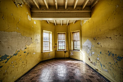 Yellow Day Room (Frank C. Grace (Trig Photography)) Tags: history abandoned hospital insane unitedstates decay masonry plan historic haunted westvirginia ghosts insanity exploration paranormal lunatic asylum hdr highdynamicrange weston treatment urbex patients mentalillness kirkbride overcrowded richardandrews transallegheny handcutstone trigphotography frankcgrace legendtripping