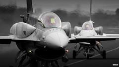 4079 and 4062 (Mark Holt Photography - 3 Million Views (Thanks)) Tags: colour aircraft aviation military f16 lockheed militaryaviation lockheedmartin militaryaircraft f16d 4062 4079 polishairforce rafleeming colourseperation