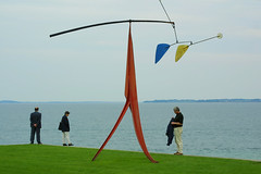 Copenhagen - Calder's sculpture (Pietro Faccioli) Tags: travel sea people sculpture abstract art water statue museum modern copenhagen garden relax louisiana exterior contemporary modernart candid strangers statues calm exhibition calder abroad sculptures danemark