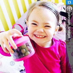 How do YOU re-use your #kttapecase? They make great candy jars! #Repost @johnson_bridget... I just walked in on this proud face. Apparently Ell climbed all the way to the top of the pantry, found the whoppers, grabbed an empty #kttape case and got herself (Recover Faster, Play Harder) Tags: cute case tape kt candyjar kttape