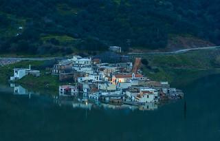 Sunk village during blue hour