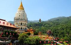 Ten thousand Buddhas. (john a d willis) Tags: georgetown malaysia penang 10000buddhas buddisttemple kelloksi