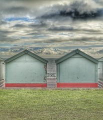 Looking out to Sea (Becca Swift) Tags: beach brighton beachhuts hdr