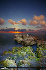 Moon Rise Coral Cove Vertical Image Photo (Captain Kimo) Tags: ocean beach moonrise lunar photomatixpro tonemapping hdrphotography coralcovepark captainkimo