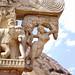Le grand stūpa de Sanchi, Yakshi du Torana est (Inde)