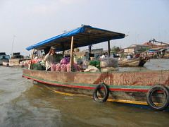 Boat of Cai Be Floating Market