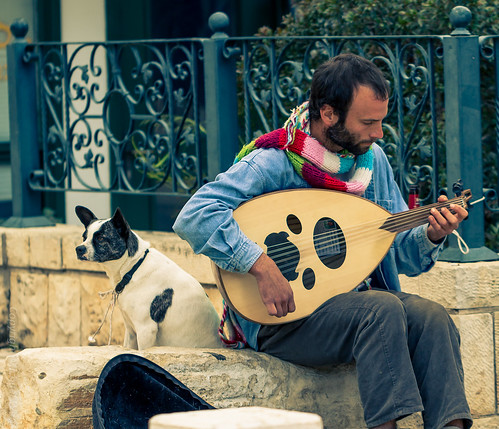 A Dog and his Busker