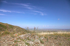 * (monorail_kz) Tags: blue sky mountains skyline landscape july fields kazakhstan steppe prarie kapal almatyregion dzungarianalatau dzungaria koshkental