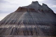 Remnant of Chinle Formation strata, Petrified Forest National Park, Arizona (cocoi_m) Tags: red arizona white lake nature horizontal gray band strata geology petrifiedforestnationalpark gully geomorphology remnant rill lacustrine chinleformation erosional overlain unconformably