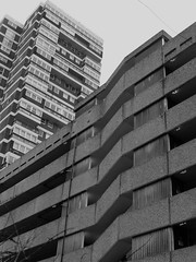 OK From The Side (teaselbrush) Tags: brighton hove east sussex coast coastal seaside town urban city churchill square shopping centre car park carpark brutalist brutalism architecture angles geometric geometry tower block towerblock flats modernist