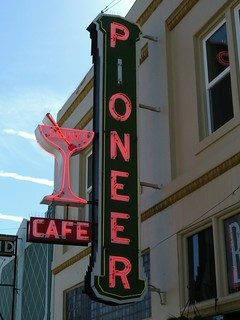 Pioneer Cafe Sign