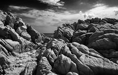 SAR_04 (Gianpaolo Rubbera) Tags: capocomino sardegna sardinia italia italy gianpaolorubbera mare sea mediterraneo biancoenero bw mediterraneansea viaggi travel landscape paesaggio rocce rocks