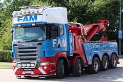 Scania R620 FAM Commercials Ltd MX09FZO (NTG's pictures) Tags: manchester etihad stadium the great northwest truck show rochdale lancashire based fam commercials ltd recovery trucks scania r620 mx09fzo