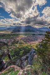 Kalampaka (mika_wist) Tags: greece meteora mountains clouds monastery cliffs