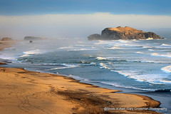 The Long View (Gary Grossman) Tags: ocean seascape beach nature landscape evening coast pacific gulls magic awesome pacificocean shore pacificnorthwest runners bandon eagles joggers pacificcoast goldenhour nesting seastacks baldeagles northpacific oregonislandsnationalwildliferefuge garygrossmanphotography shotsofawe