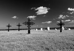 Final Resting Place (David C. McCormack) Tags: blackandwhite bw cemetery grave wisconsin rural death blackwhite midwest cross spiritual gravemarker