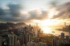 Braemar Hill () Tags: city sunset cloud landscape hongkong nikon slowshutter  northpoint    citycape braemarhill  victorhabour