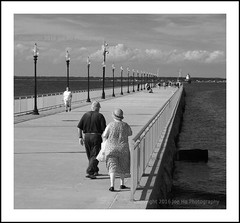 Couple at the pier (Joe <3 Photography) Tags: couple pier ocean ligththouse windturbine lights summer afternoon