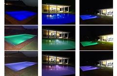 Piscina Noche RGB (brujulea) Tags: brujulea casas alquiler san vicente del raspeig sant vicent alicante alacant villa family piscina noche rgb