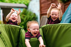 Tripping Triplets (Gazza Photography) Tags: triplets threesome boys kids children people portrait fun laughing smile falling multiple exposure