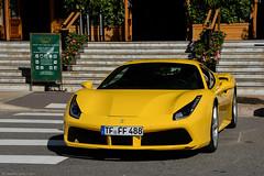 Giallo Modena Ferrari 488 GTB (SupercarLust) Tags: ferrari488gtb supercar exotic monaco casinosquare montecarlo giallomodena yellow