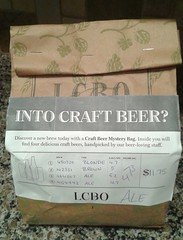 mmmmystery....beer (jmaxtours) Tags: intocraftbeer mmmmysterybeer mmmmbeer beer ale grabbag ontario lcbo lcbocraftbeermysterybag