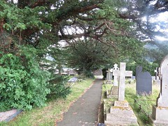2503 Eglws Y Santes Fair graveyard (Andy panomaniacanonymous) Tags: 20160718 ccc church churchyard eglwsysantesfair ggg graveyard photostream stmaryschurch