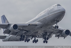 United Airlines Boeing 747-451 (N105UA) (Michael Davis Photography) Tags: kord ord chicago chicagoohare chicagoillinois ua united unitedairlines boeing boeing747 b747 747400 n105ua aviation photography flight jet airplane airliner jetliner jumbojet staralliance air travel