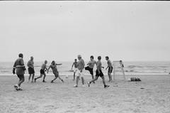 001566650035 (putjka) Tags: kiev4 analog film filmphotography kodak tmax100 bw retro football soccer beach jurmala saturday fotball club