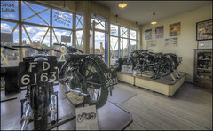 Black Country Motorcycle shop 3 (Darwinsgift) Tags: black country living museum dudley birmingham england history historic shop motorcycles motorbike vintage nikkor 14mm f28 d photomatix pro